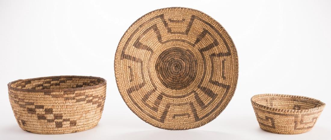 6 Native American Papago Baskets - 3
