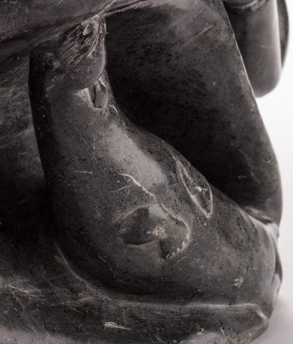 Large Soapstone Inuit Carving, Eliassiapik - 8