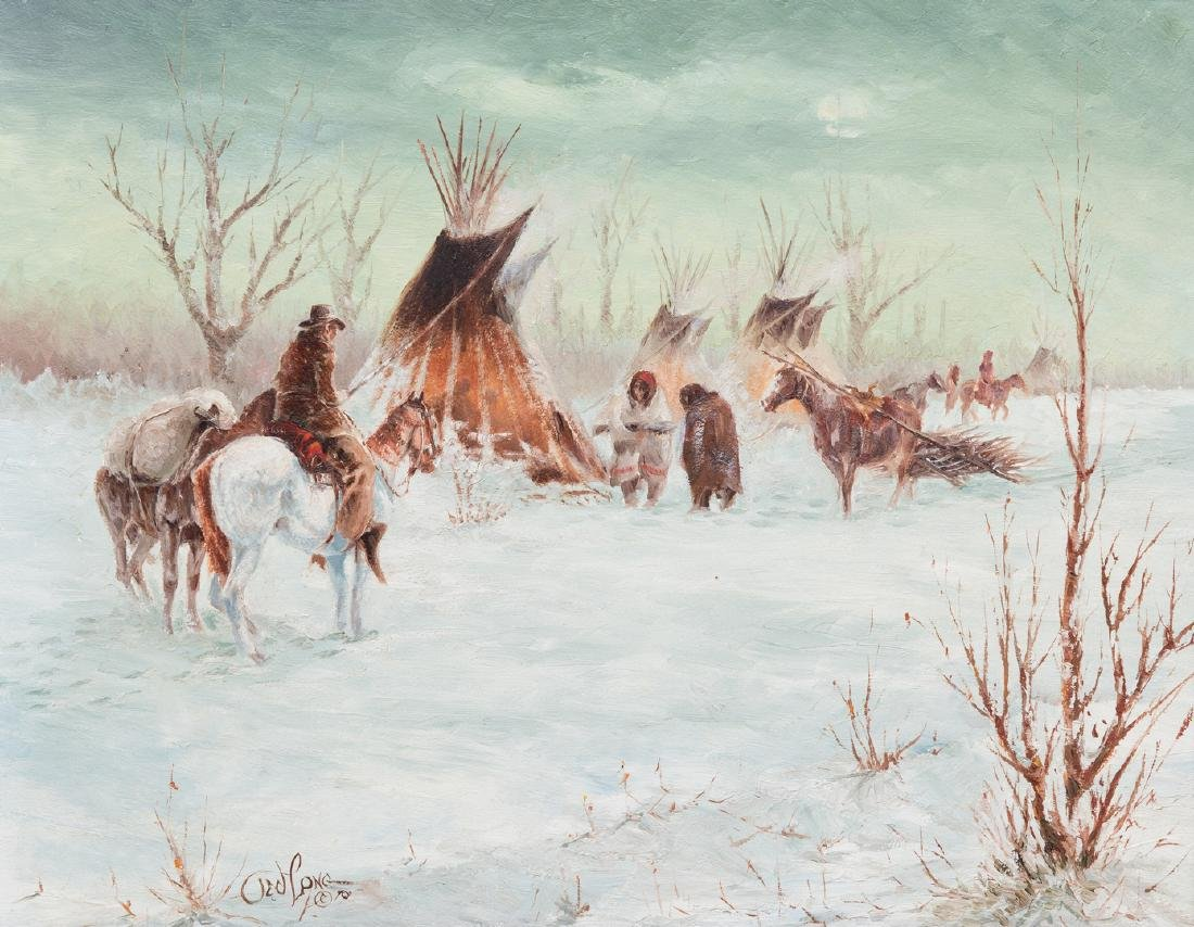 Ted Long, O/B, Indian Winter Scene
