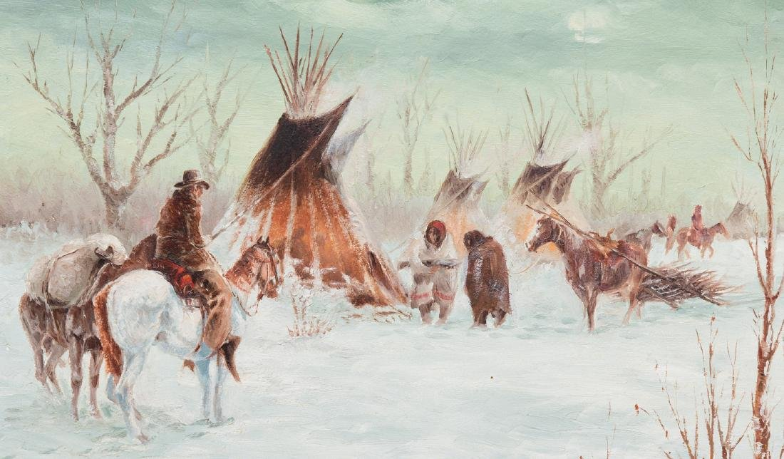Ted Long, O/B, Indian Winter Scene - 3