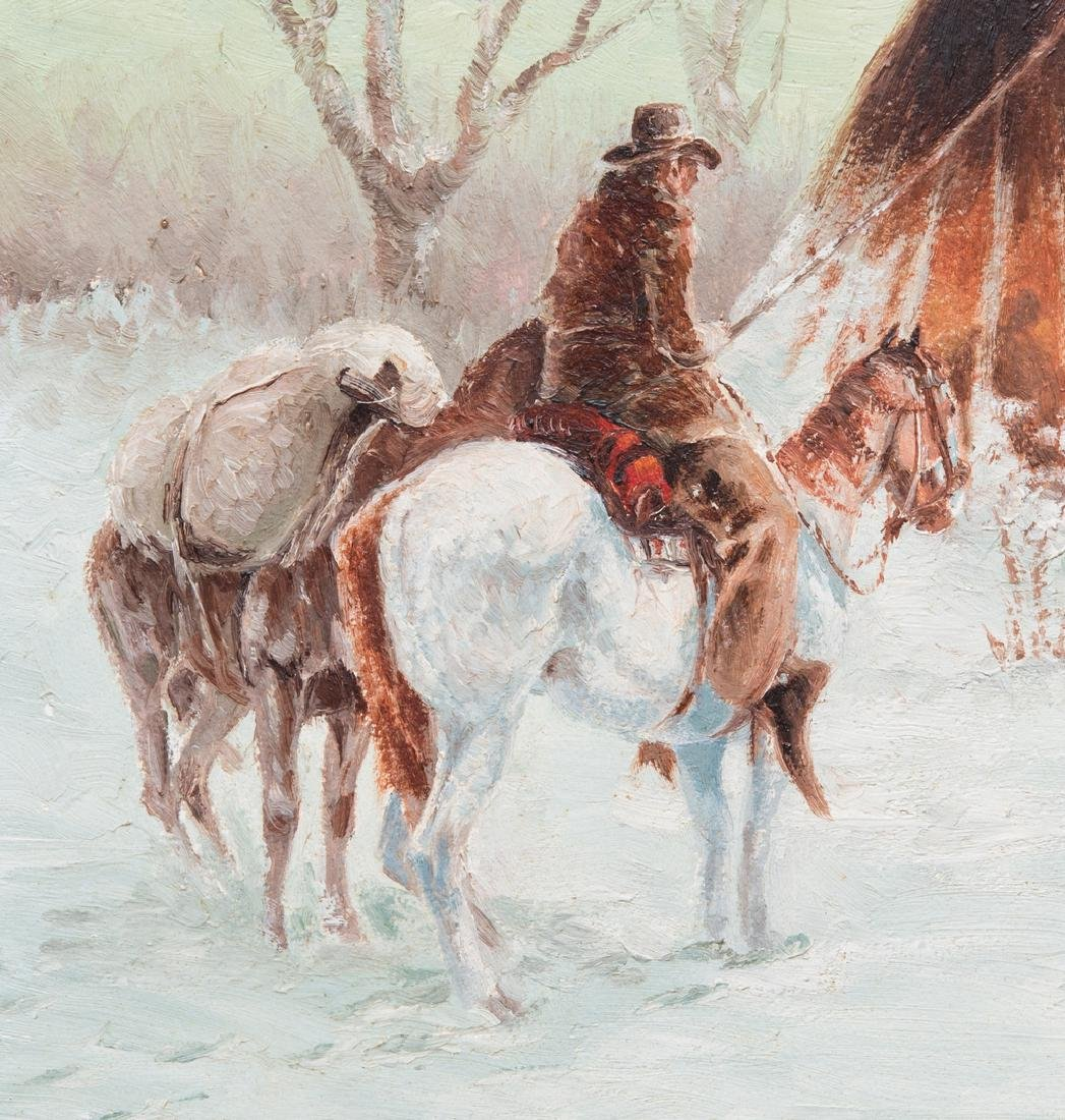 Ted Long, O/B, Indian Winter Scene - 4