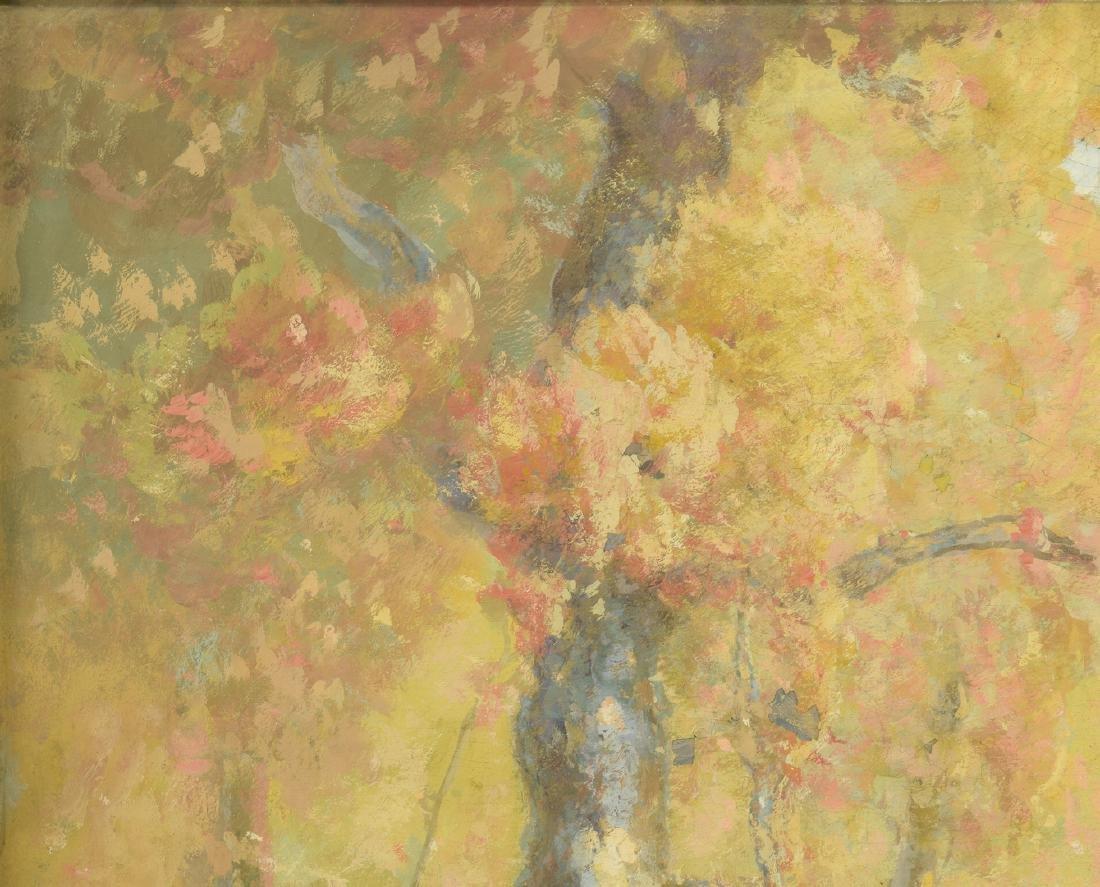 William C. Emerson landscape, tempera on board - 3