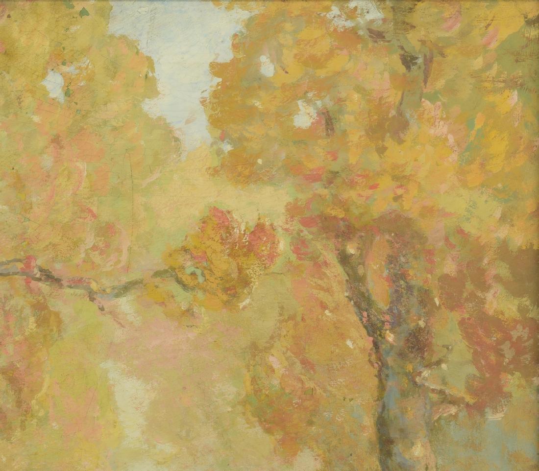 William C. Emerson landscape, tempera on board - 4