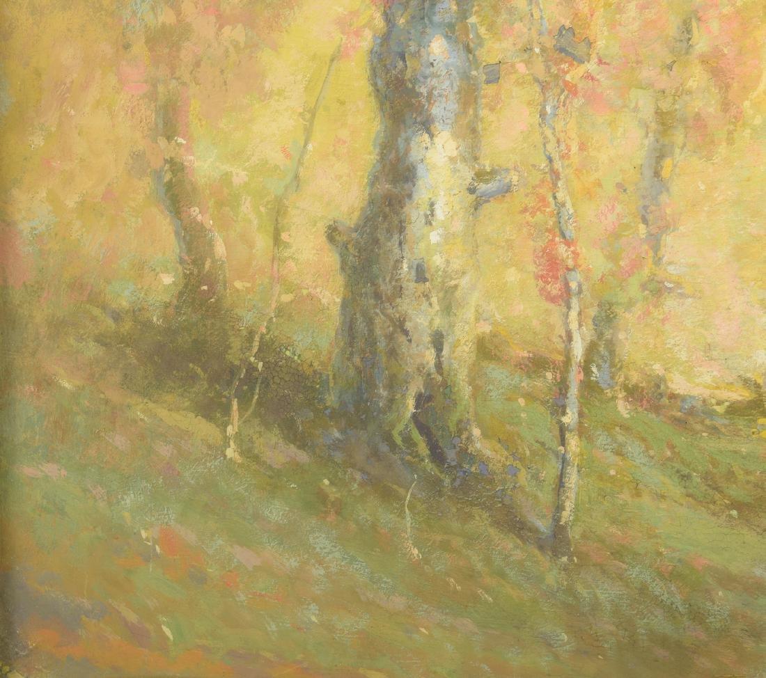 William C. Emerson landscape, tempera on board - 5