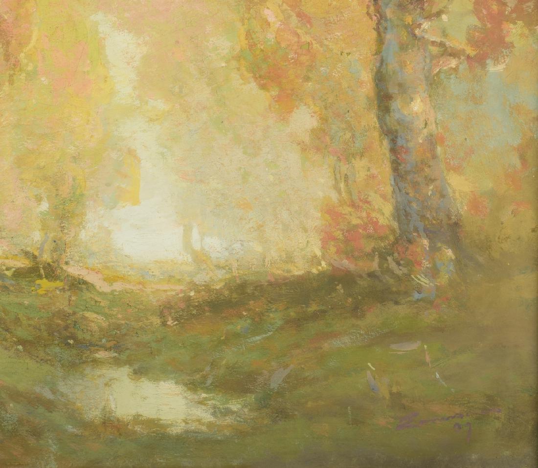 William C. Emerson landscape, tempera on board - 6