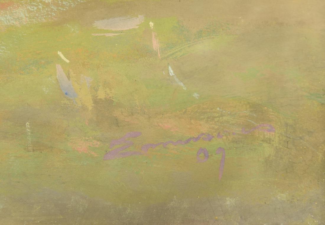 William C. Emerson landscape, tempera on board - 7