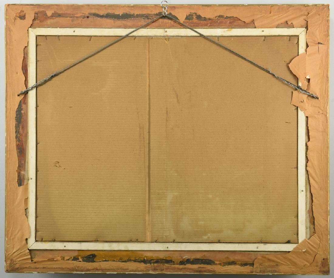 William C. Emerson landscape, tempera on board - 9