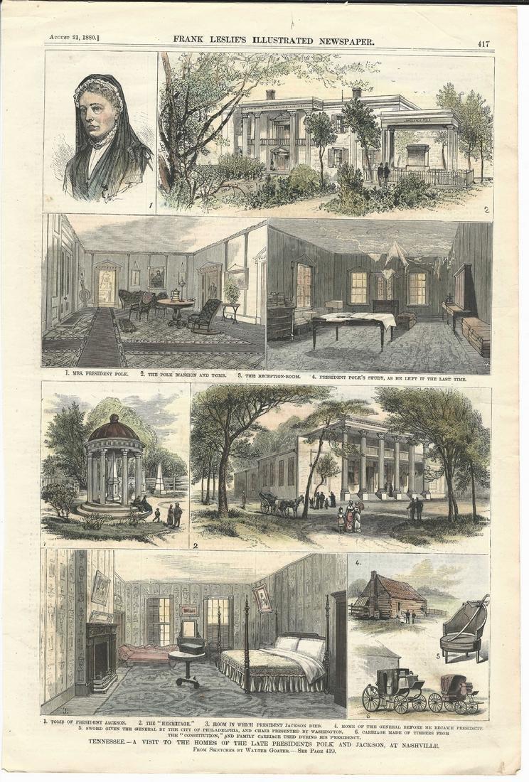 James K. Polk Ephemera, 6 items - 6