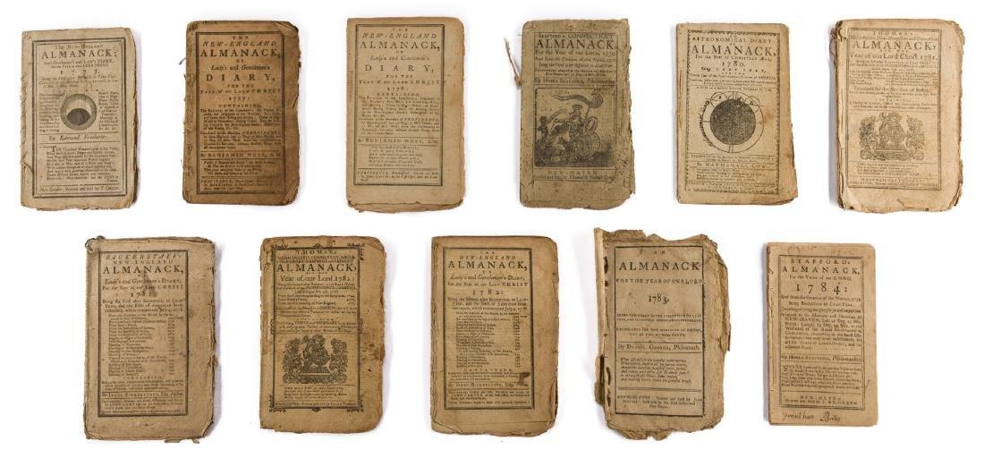 11 Rev. War Era Almanacks, 1777-1784