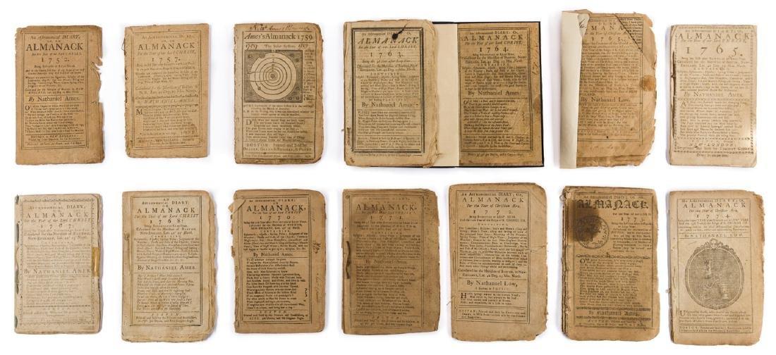 14 Pre Rev. War Almanacks, 1752-1774