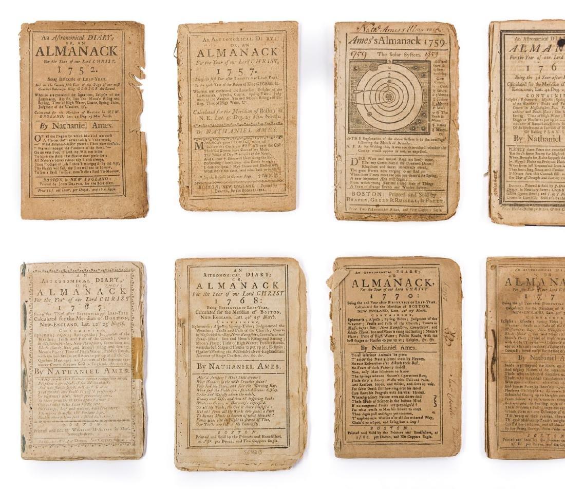 14 Pre Rev. War Almanacks, 1752-1774 - 2