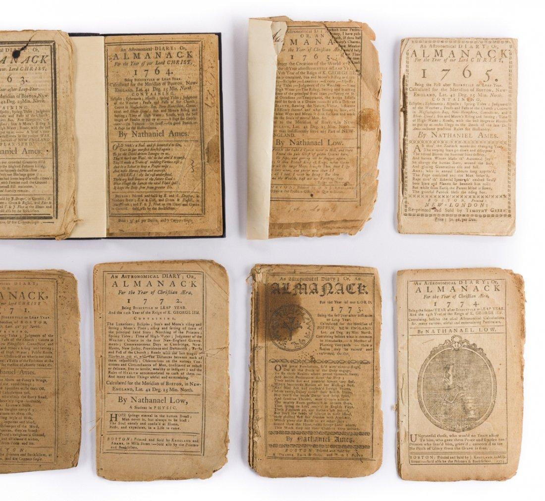 14 Pre Rev. War Almanacks, 1752-1774 - 3