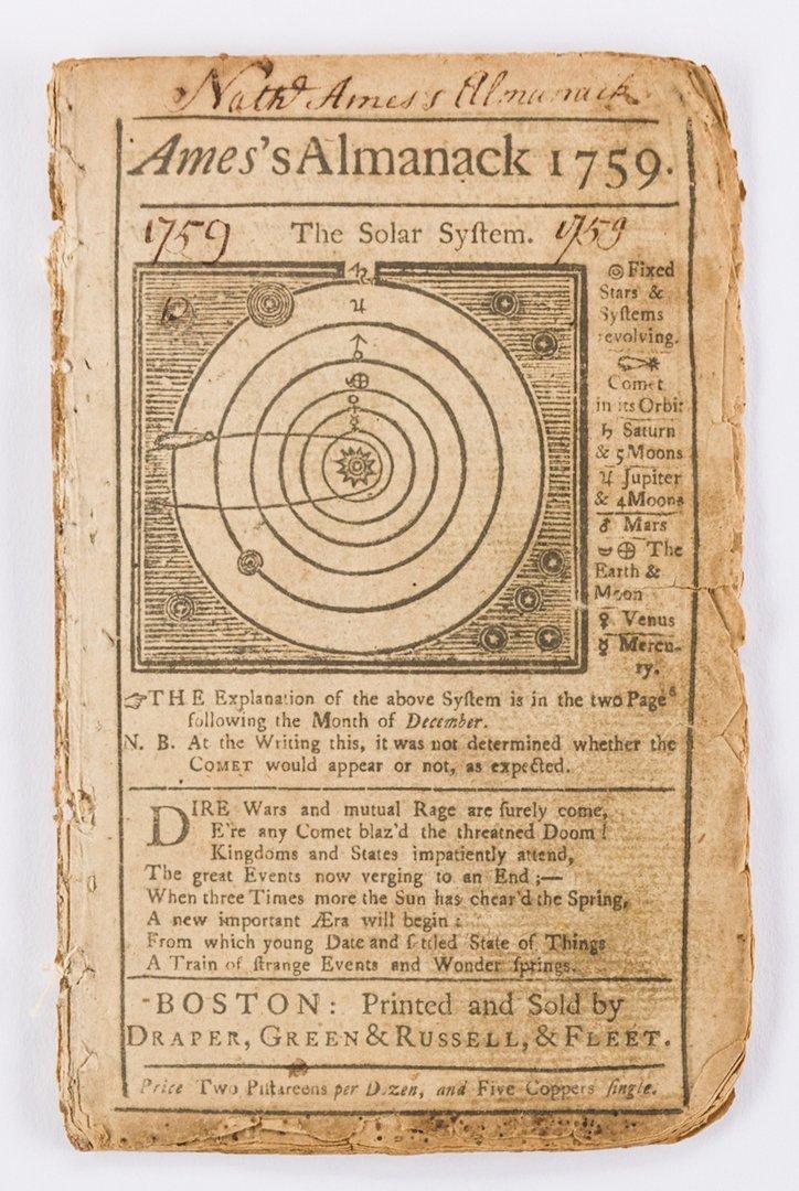 14 Pre Rev. War Almanacks, 1752-1774 - 4