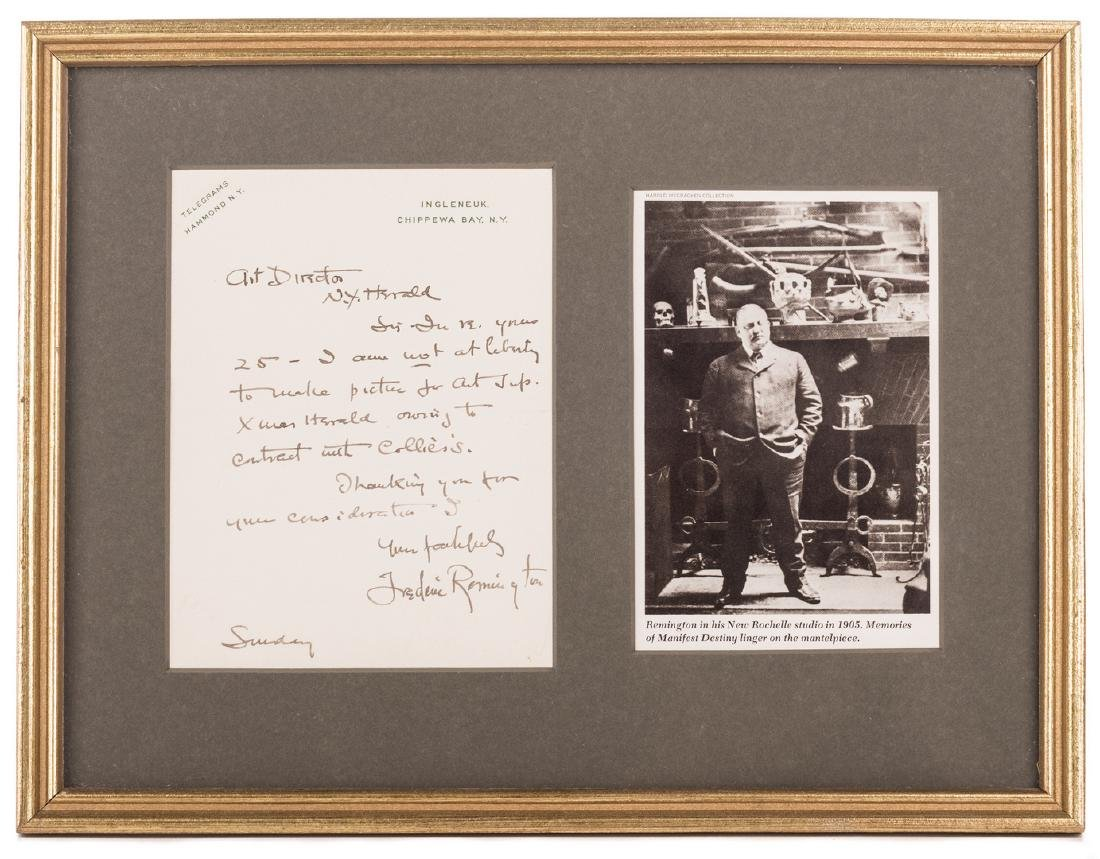 Frederic Remington Letter & Book, 2 items