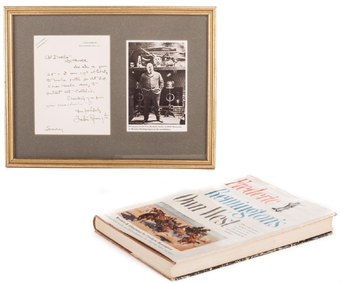 Frederic Remington Letter & Book, 2 items - 2