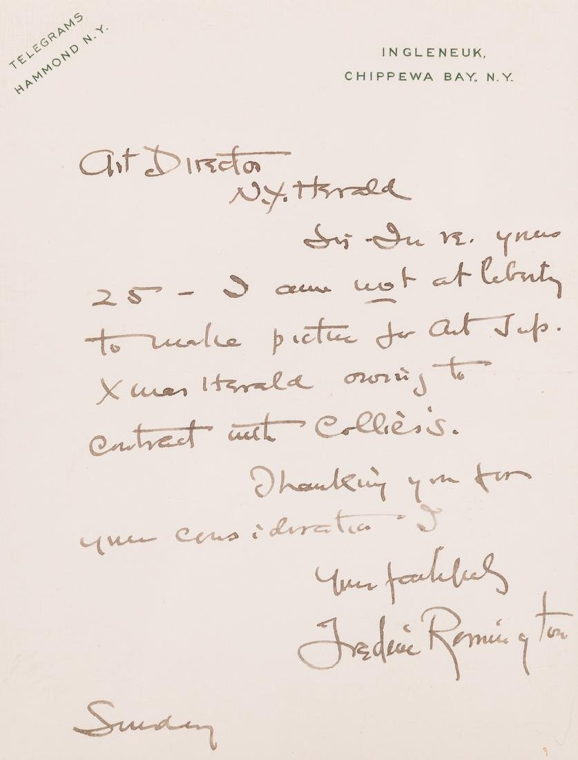 Frederic Remington Letter & Book, 2 items - 3