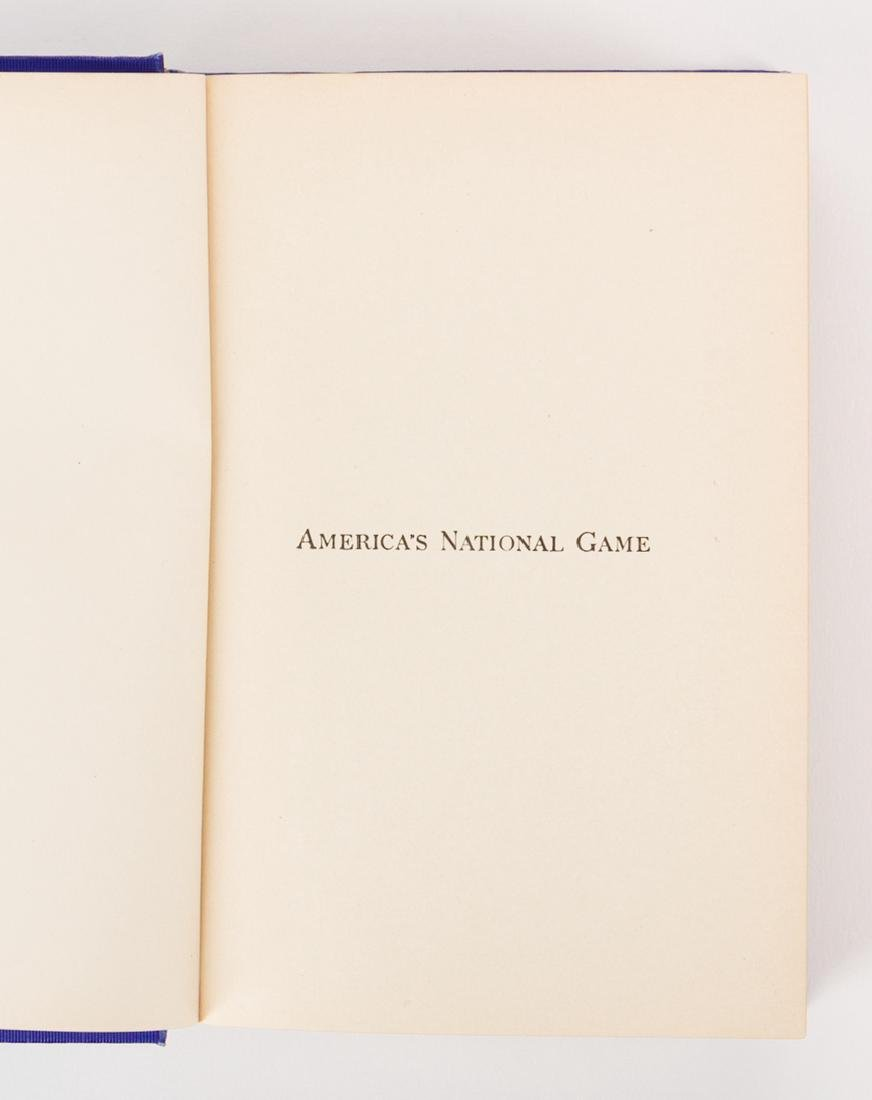 A.G. Spalding, AMERICA'S NATIONAL GAME, signed 1st - 4