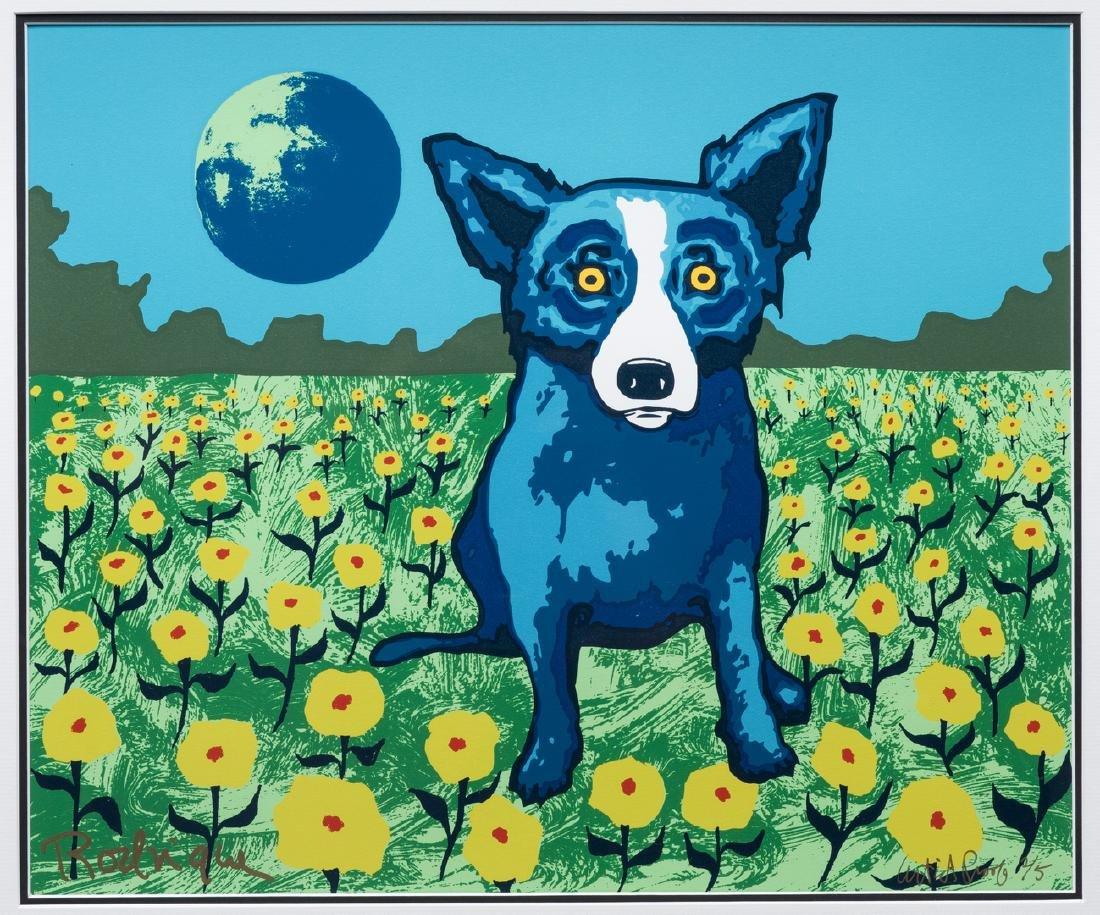 George Rodrique, Blue Dog Serigraph