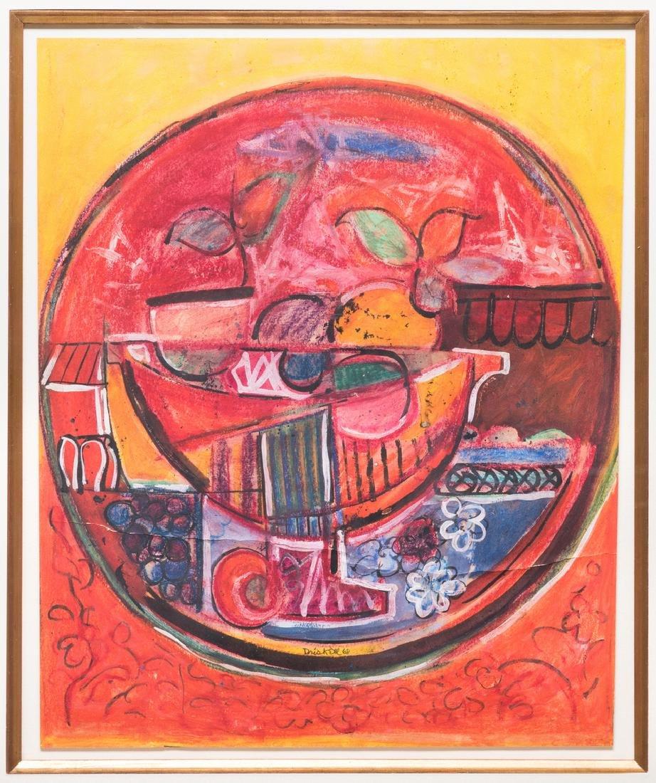 David Driskell, Woodcut/Silkscreen, Fruit Bowl