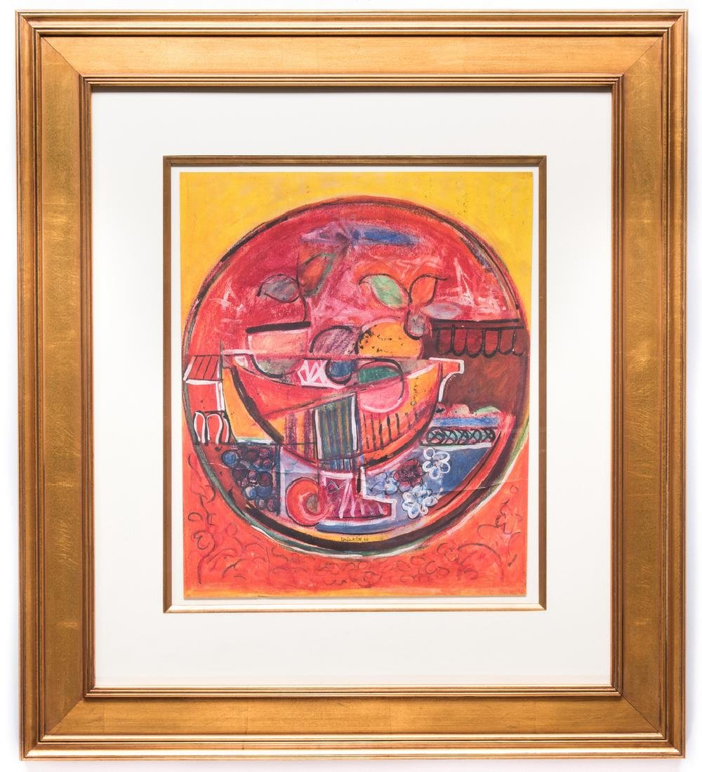 David Driskell, Woodcut/Silkscreen, Fruit Bowl - 2