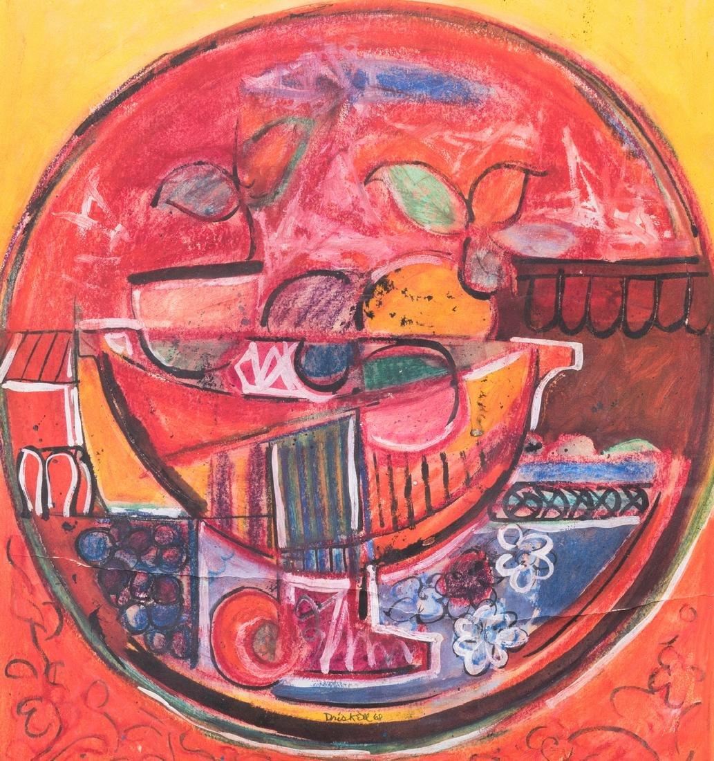 David Driskell, Woodcut/Silkscreen, Fruit Bowl - 3