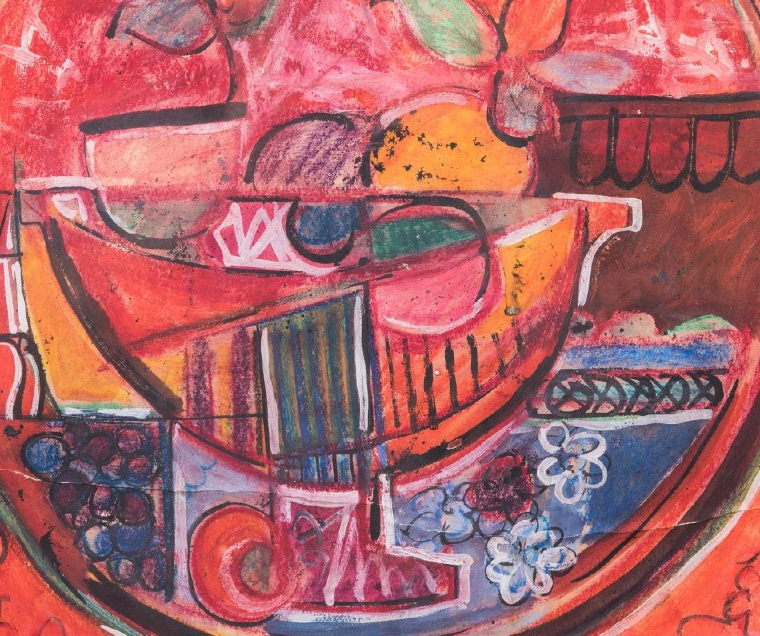 David Driskell, Woodcut/Silkscreen, Fruit Bowl - 4