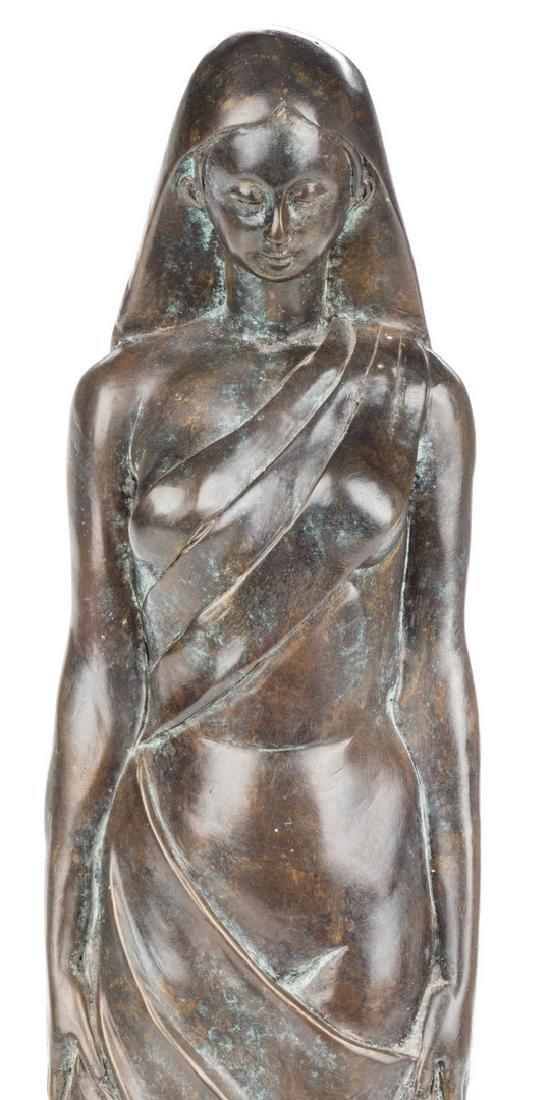 Modernist Bronze Sculpture of Female - 2
