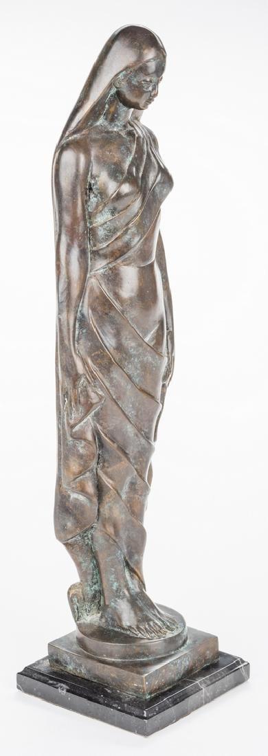 Modernist Bronze Sculpture of Female - 3