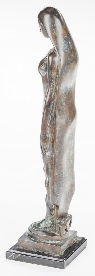 Modernist Bronze Sculpture of Female - 5