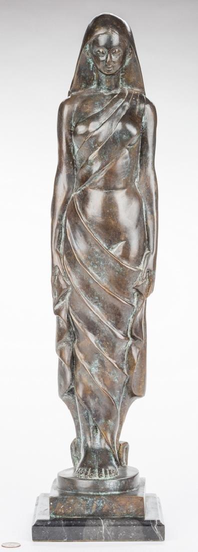 Modernist Bronze Sculpture of Female - 9