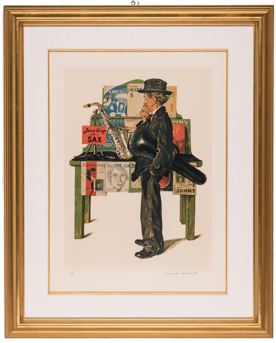 Norman Rockwell Lithograph, Jazz it Up