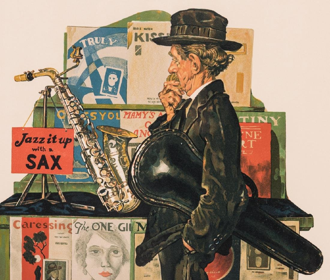 Norman Rockwell Lithograph, Jazz it Up - 3