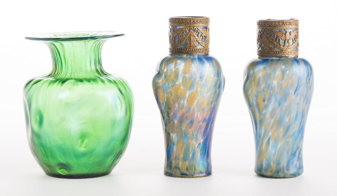 Attr. Loetz or Kralik Art glass Group, 3 pcs - 5