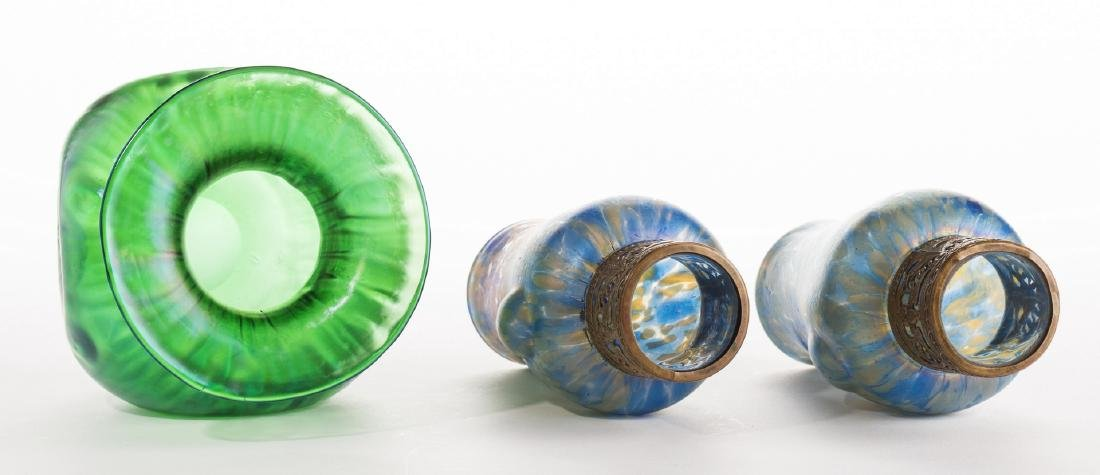 Attr. Loetz or Kralik Art glass Group, 3 pcs - 6