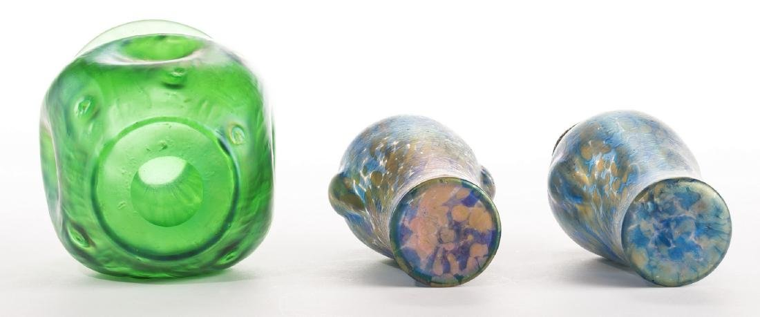 Attr. Loetz or Kralik Art glass Group, 3 pcs - 7