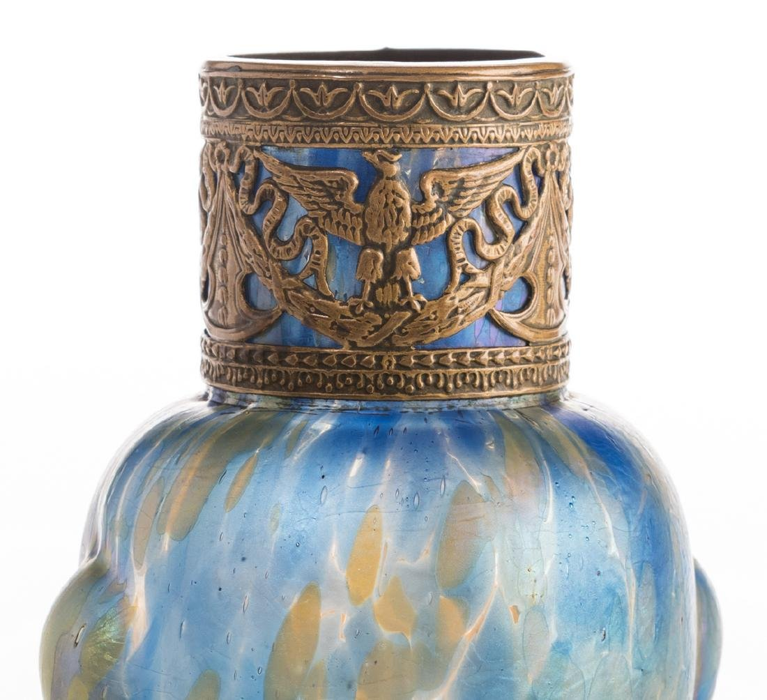 Attr. Loetz or Kralik Art glass Group, 3 pcs - 9