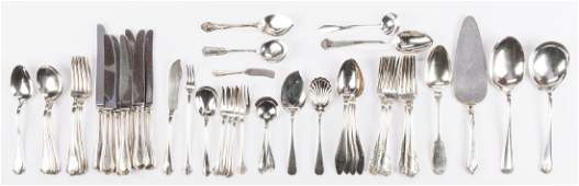 48 pcs Assorted Sterling and Coin Silver Flatware