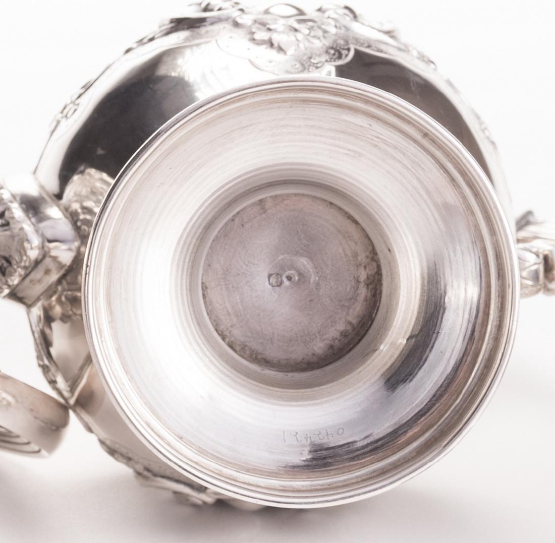 Portuguese Silver Tea Service - 10