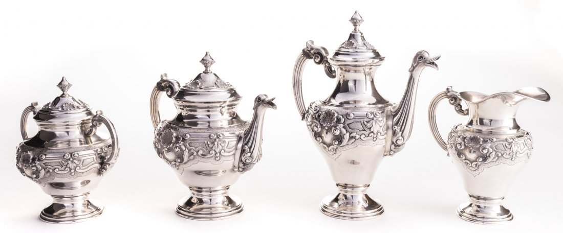 Portuguese Silver Tea Service