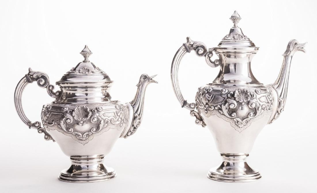 Portuguese Silver Tea Service - 2