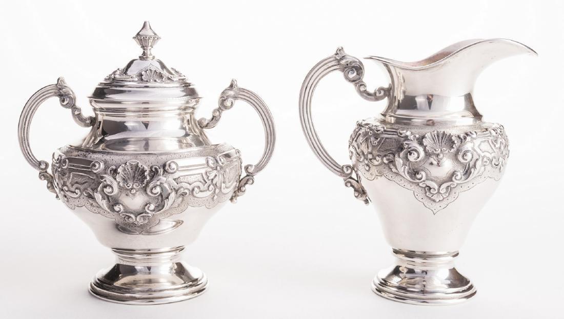 Portuguese Silver Tea Service - 3