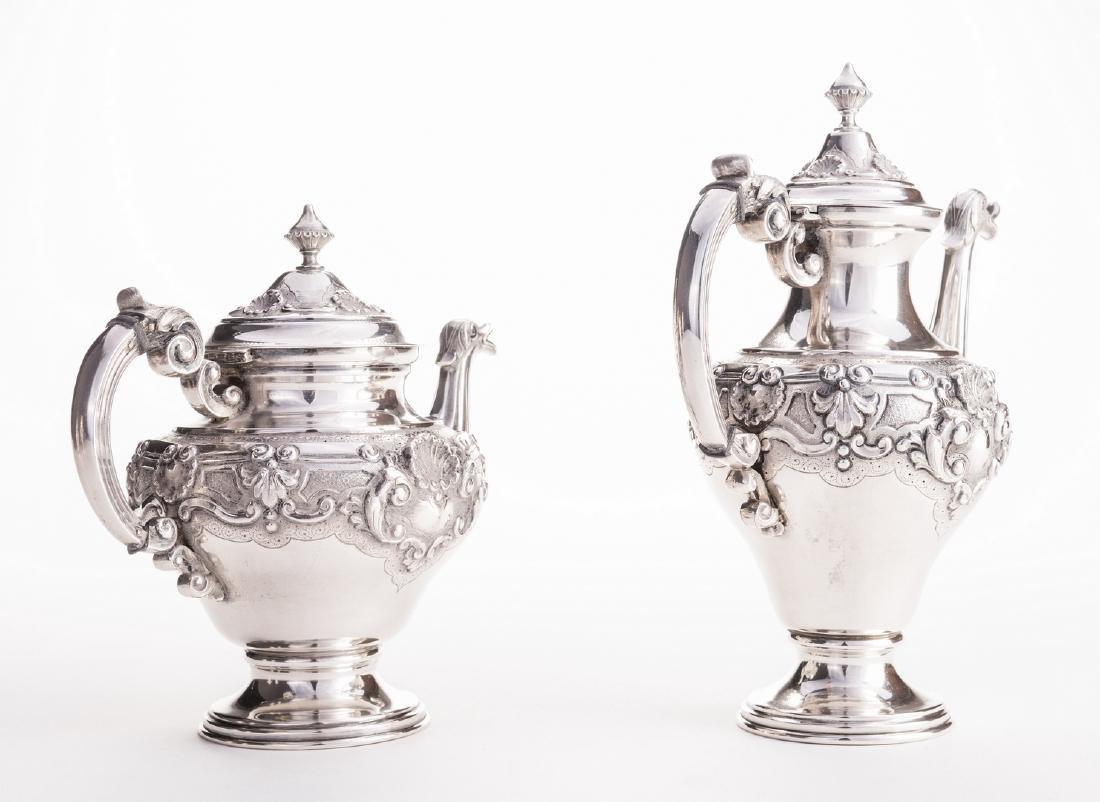 Portuguese Silver Tea Service - 4