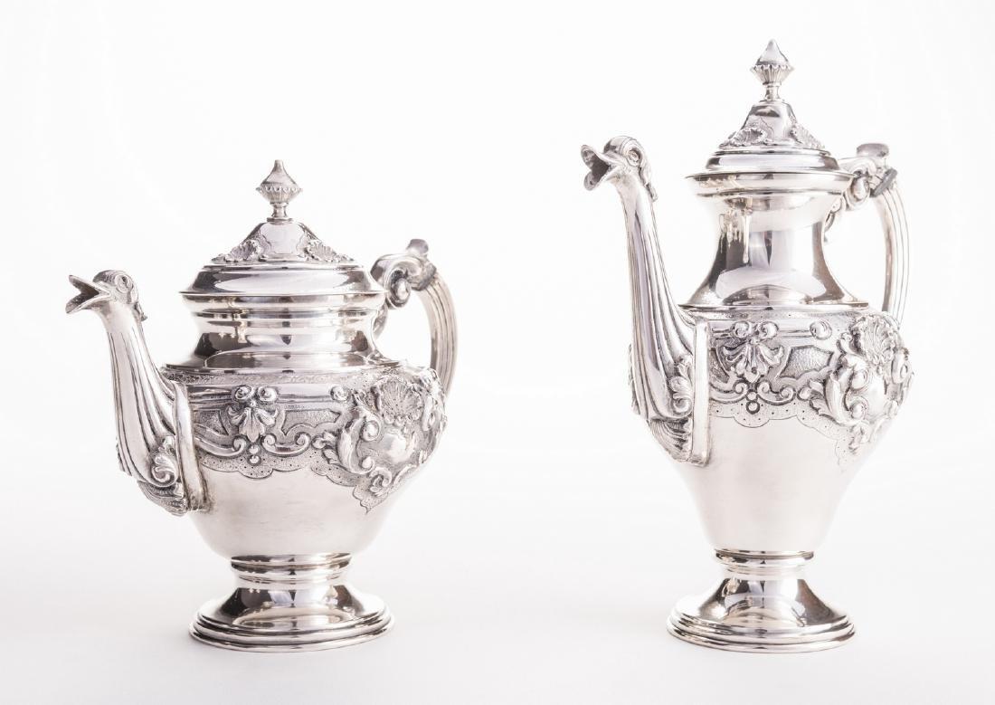 Portuguese Silver Tea Service - 5