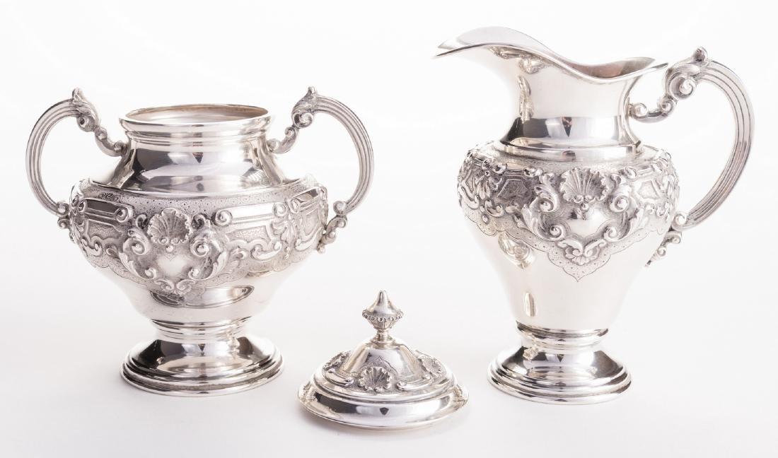 Portuguese Silver Tea Service - 8