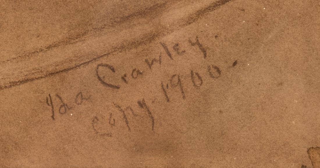 Ida Crawley Charcoal Drawing of a Horse - 4
