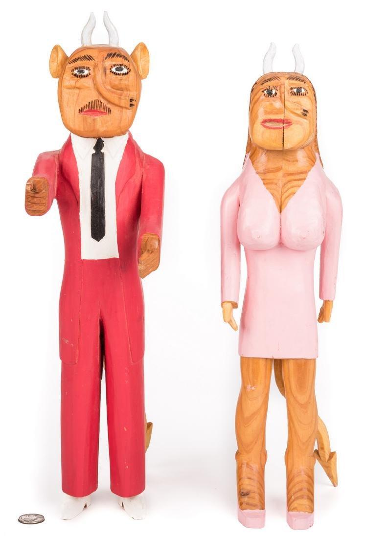 Sulton Rogers Devil Couple, 2 items