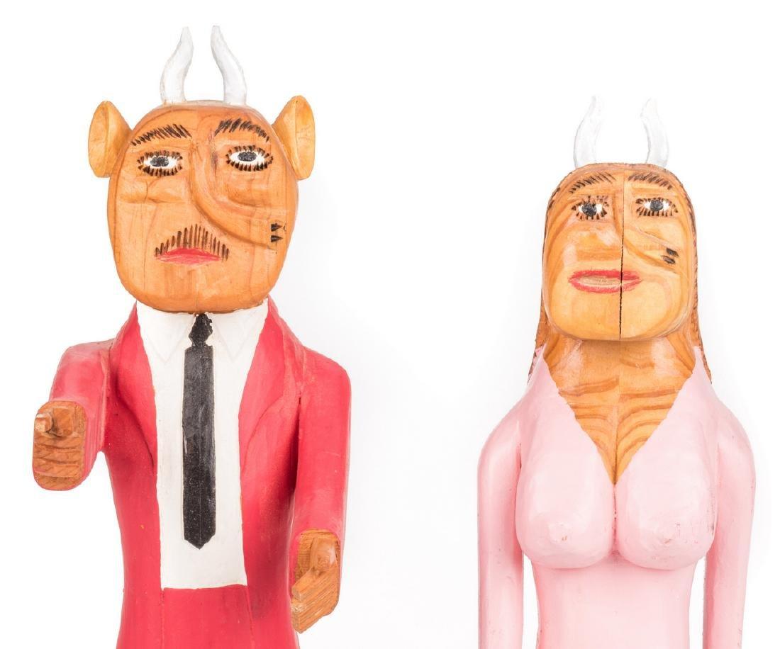 Sulton Rogers Devil Couple, 2 items - 2