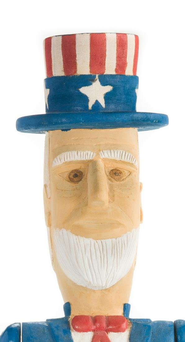 Wimp Gibson Carving, Uncle Sam - 4
