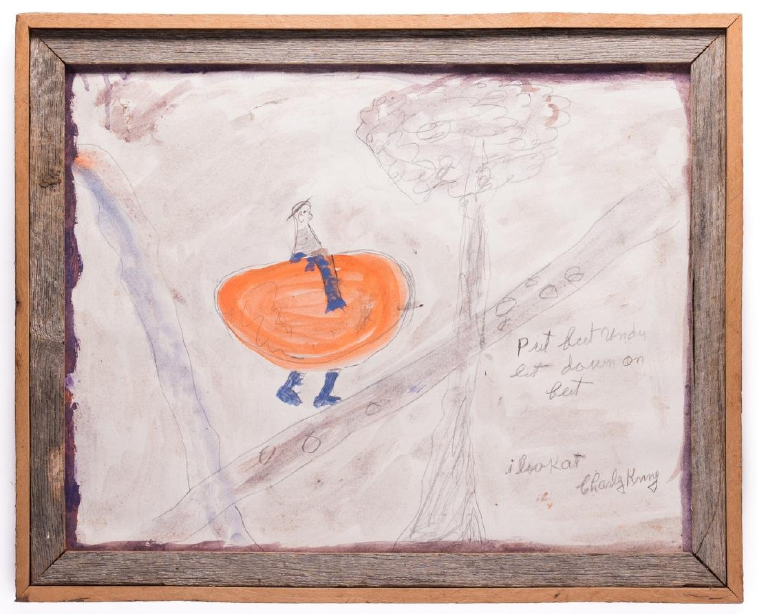 2 Folk Art Paintings, S. L. Jones & Charly King - 6