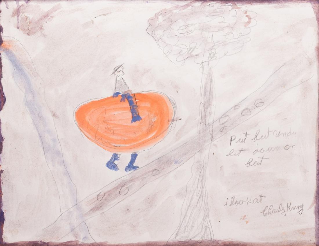 2 Folk Art Paintings, S. L. Jones & Charly King - 7